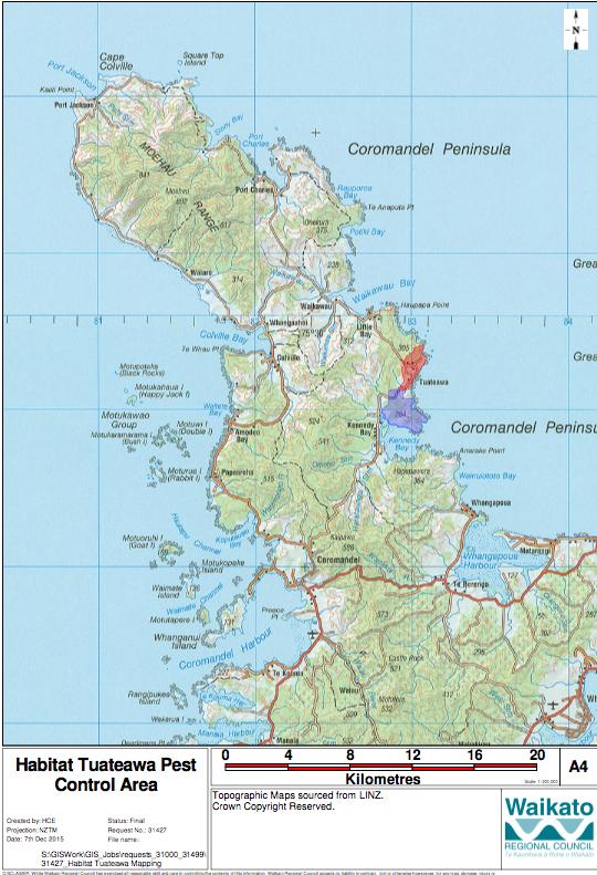 tuateawa area map