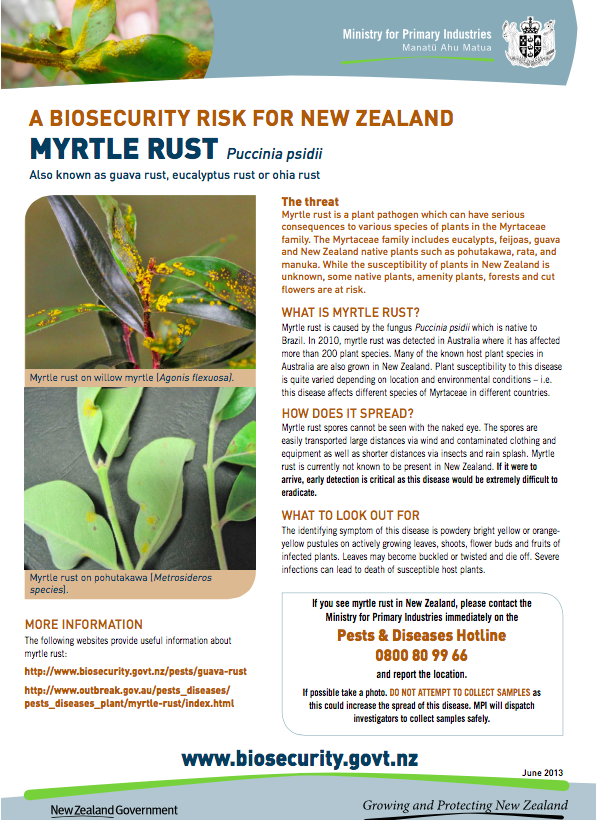biosecurity mrytle